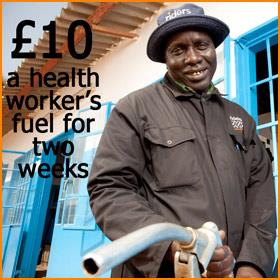 £10 = A fortnight's worth of fuel for a health worker