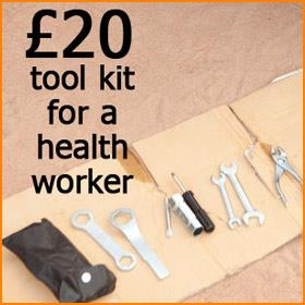 £20 = A tool kit for a health worker