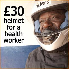 £30 = A helmet for a health worker