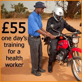 £55 = A day's training for a health worker