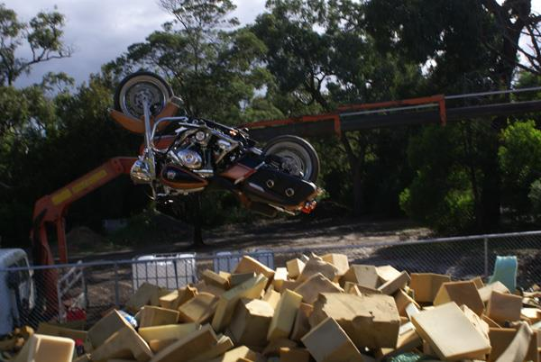 Harley-Davidson Road King backflip