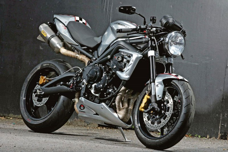 Ace Cafe's 10th anniversary Triumph Street Triple R cafe racer