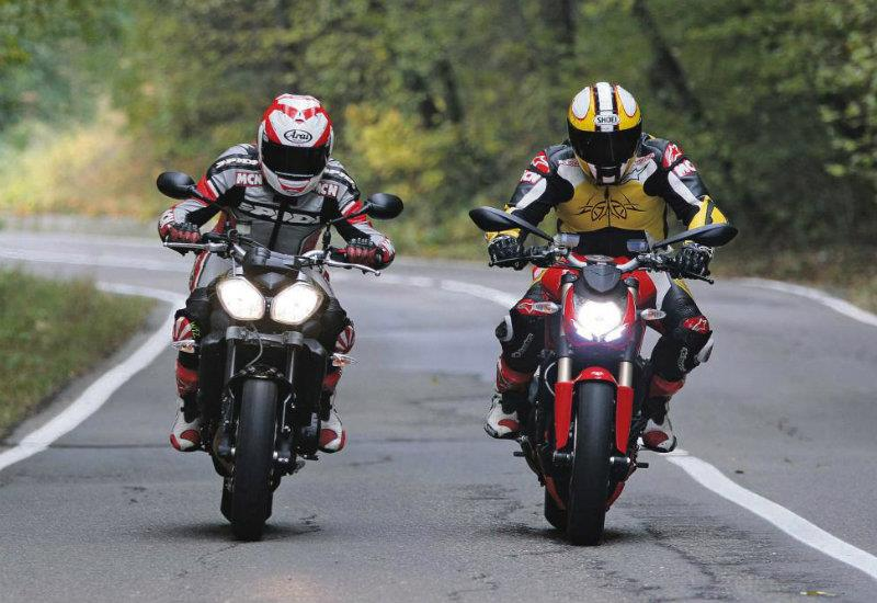 ducati's 848 streetfighter overpowers triumph street triple r | mcn