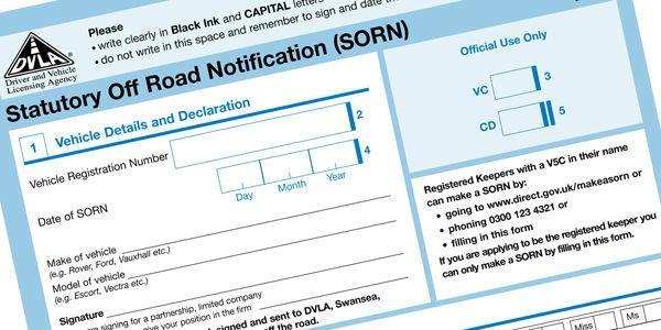 Sorn Car Insurance Rules