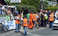 Pictures from scene of Bray Hill Senior TT crash