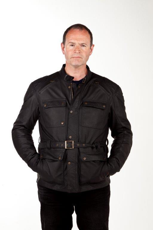 jacket review: triumph newchurch leather jacket | mcn