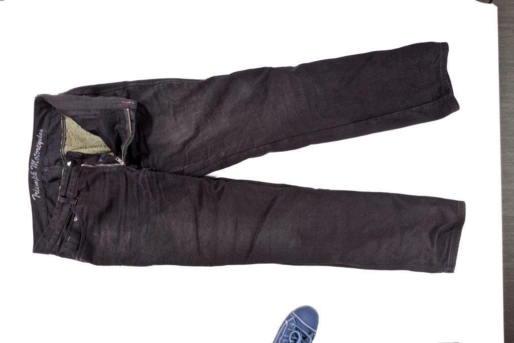 clothing review: triumph engineered denim/kevlar jeans | mcn