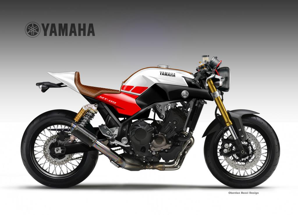 Yamaha MT-09 Triple Cafe concept | MCN