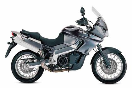 Aprilia ETV1000 Caponord motorcycle review - Side view