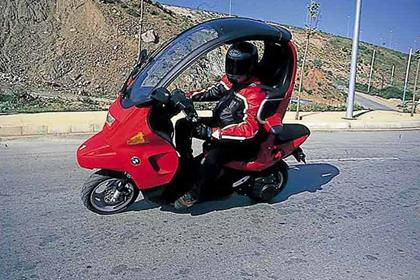 BMW C1 motorcycle review - Riding