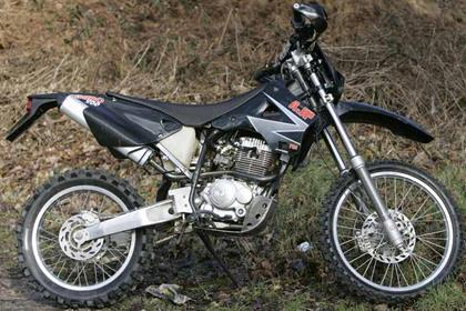 AJP PR4 Enduro motorcycle review - Side view