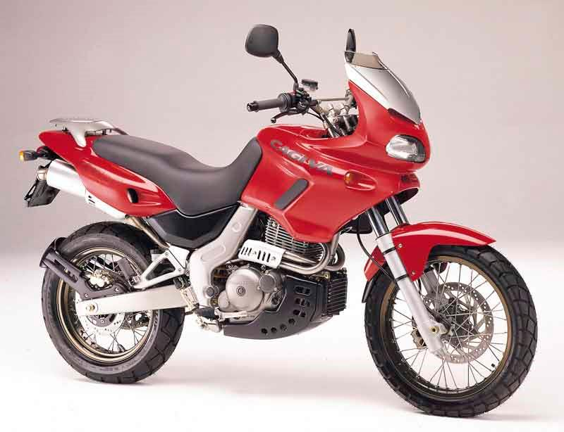 755716bd12 ... Cagiva Canyon 500 motorcycle review - Side view ...