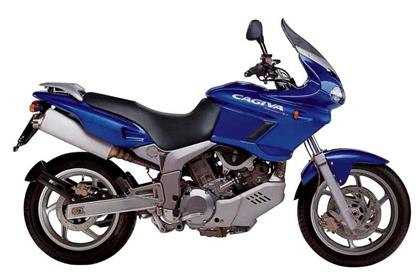 Cagiva Navigator motorcycle review - Side view