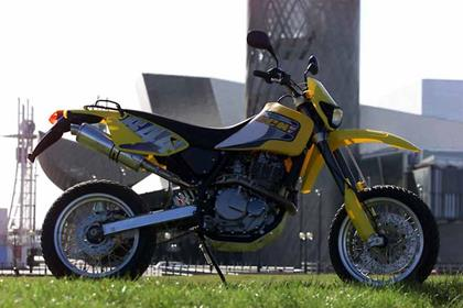 CCM 644E Trail motorcycle review - Side view