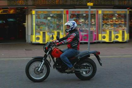 Yamaha TW125 motorcycle review - Riding