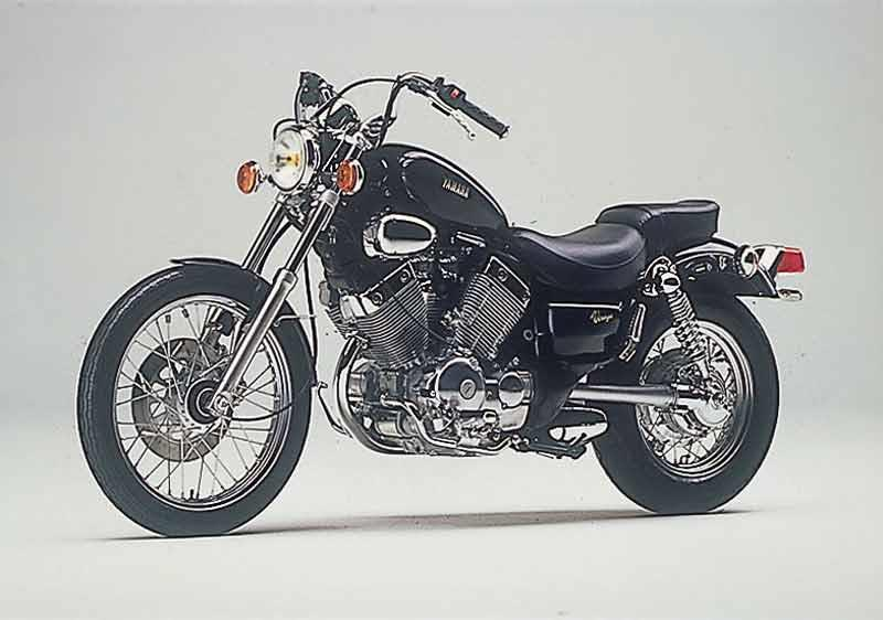 yamaha virago. yamaha xv535 virago motorcycle review - side view a