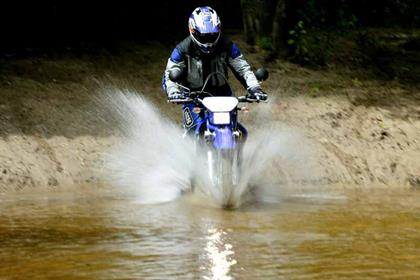 Yamaha DT125X motorcycle review - Riding