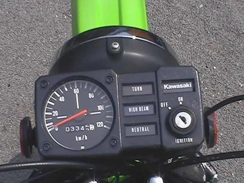 kawasaki ke100 1974 1998 review mcn kawasaki ke100 motorcycle review instruments