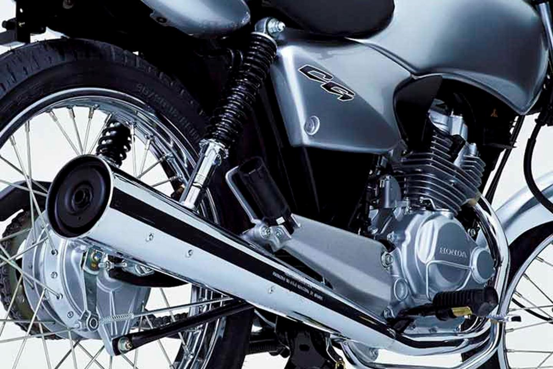 Honda CG 125 exhaust and engine