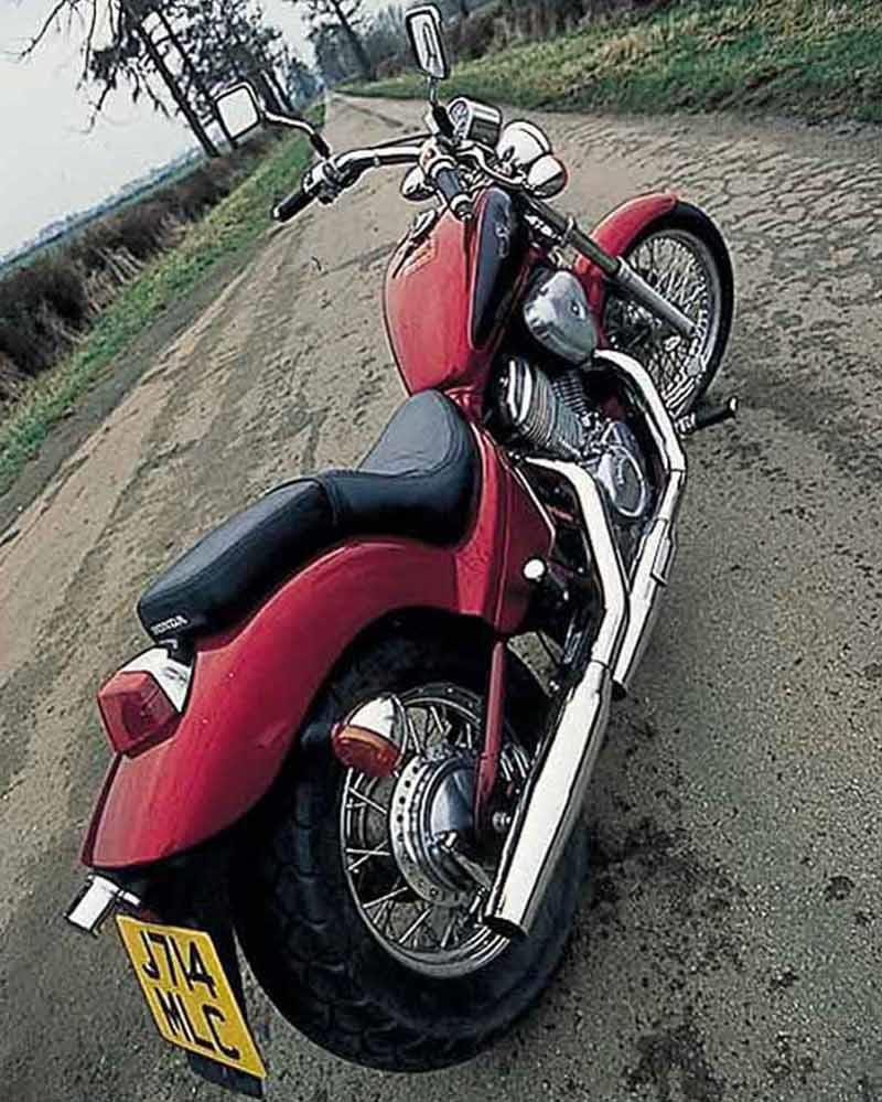 Honda Vt600 Shadow 1992 2002 Review Mcn 1983 Bobber Motorcycle Rear View