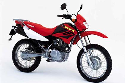 Honda XR125L motorcycle review - Side view