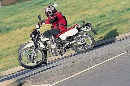 Honda XLR125R motorcycle review - Riding