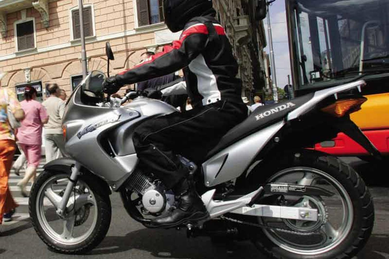 Honda Varadero 125 ridden in the city
