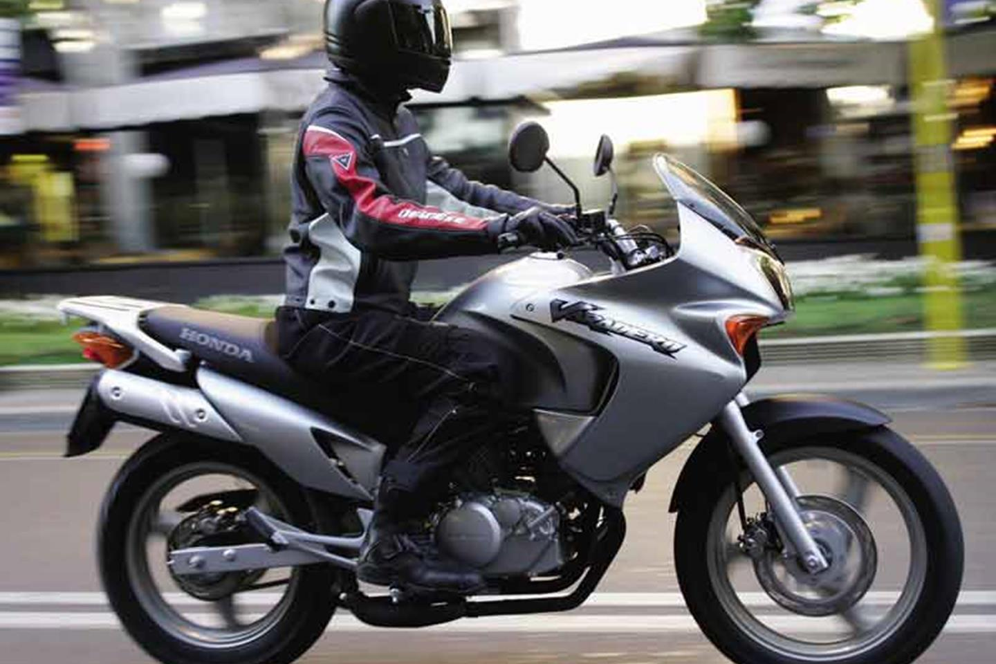 The Honda Varadeo 125 top speed isn't really suitable for motorway riding - it's better in towns