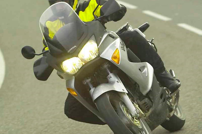 Making the most of the handling on the Honda Varadero 1000 sports tourer
