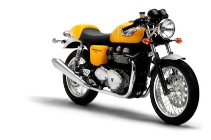 Triumph Thruxton motorcycle review - Side view