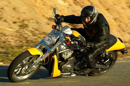 Harley-Davidson VRSCR Street Rod motorcycle - Riding