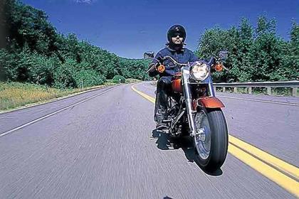Harley-Davidson FLSTF Fat Boy motorcycle review - Riding
