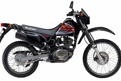 Suzuki DR125SE motorcycle review - Side view