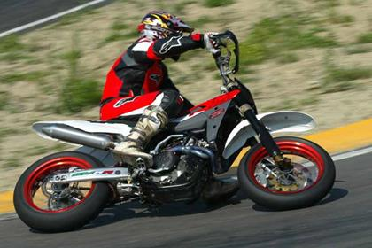 Husqvarna SM450R motorcycle review - Riding