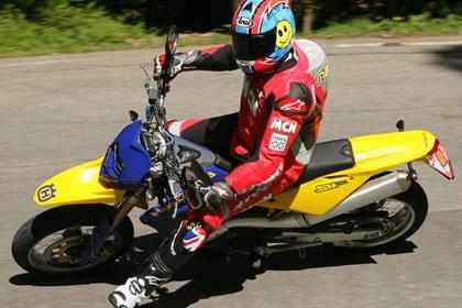 Husqvarna SM610 motorcycle review - Riding