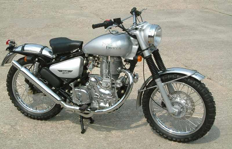 enfield 500 bullet electra (2004 on) motorcycle review mcnroyal enfield bullet electra motorcycle review side view